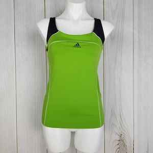Adidas Green Black Power Y Fitness Tank Top